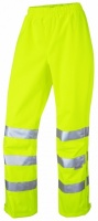 Ladies Waterproof Yellow Breathable Overtrousers EN471